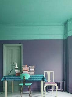 Creatief met verf: gekleurd plafond   365 Woonideeën