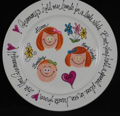 Personalized grandparents, anniversary, family plate. $30.00, via Etsy.