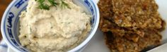 Sprouted Chickpea Hummus and Sesame Seed Crackers