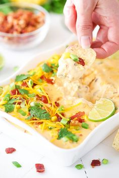 I've got something savory for you today! This Bacon Cheddar Beer Cheese Dip is super easy to make and SO tasty! Perfect for parties and/or football watching – you won't be able to stop eating it! We are officially in college football bowl season and will soon be moving into the pro football playoffs. This …
