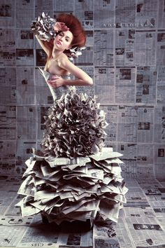 Adam Bouska Photography - Happy Earth Day! Recycled Fashion