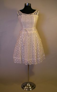Cotton lace so pretty for a Spring Wedding Two Piece Lace Short #wedding cassandra bromfields gown