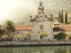 Church in Prčanj - an ancient town located on the shores of Bay of Kotor Adriatic Sea.                    http://youtu.be/Wp4VczKez_E