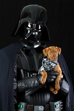 """Who's a good Jedi? Adoption photos taken with movie characters - especially timely with the Star Wars movie, but any characters would work. Use local actors dressed in character."