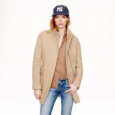 J.Crew - Stadium-cloth cocoon coat - I would do anything for this beauty in sandstone!