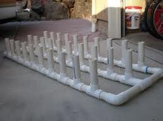 PVC Pipe Rod holders are a great diy project for any fisherman. Learn how to build your own pvc pipe rod holder. PVC Pipe diy projects and plans shows you how Diy Fishing Rod Holder, Fishing Pole Storage, Best Fishing Rods, Fishing Tips, Fishing Cart, Fishing Poles, Fishing Tackle, Pvc Rod Holder, Kayak Storage
