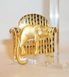 Cat Chair JJ pin Artifacts vintage brooch $10.00