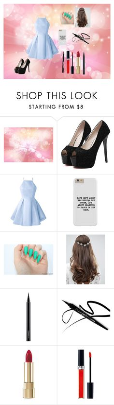 """""""Prom#2"""" by nedy3242006 on Polyvore featuring WithChic, ASOS, MAC Cosmetics, Dolce&Gabbana, John Lewis and Manic Panic NYC"""