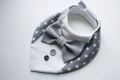 Baby bib boy Baptism bibshirt bow tie bib baby by BizBizBaby
