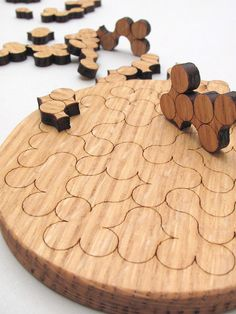 Gorgeous wooden puzzle can be used as a trivet after you build it.