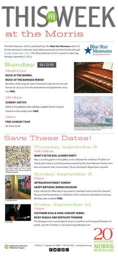 #Morris Museum of Art events