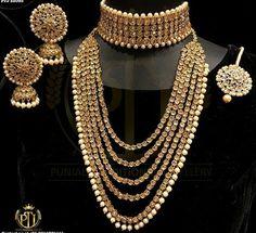 New Diy Jewelry Making Ideas Friendship Bracelets Ideas Indian Jewelry Sets, Indian Wedding Jewelry, India Jewelry, Bridal Jewellery, Marriage Jewellery, Jewellery Box, Dior Jewelry, Gold Jewelry, Jewlery
