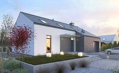 Ciekawy 1 - wizualizacja 2 - mały nowoczesny dom z antresolą