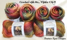 Crochet with Me, Winter CAL crochet-a-long with Beatric Ryan Designs