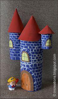Cardboard toy castle