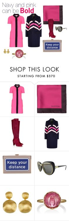 """""""Raspberry in Fall"""" by h6designinc on Polyvore featuring Victoria, Victoria Beckham, Valentino, Oscar de la Renta, MSGM, Anya Hindmarch, Cartier, Marco Bicego and Irene Neuwirth"""