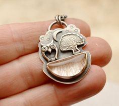 Woodland Necklace Rutilated Quartz Necklace by EONDesignJewelry