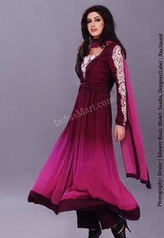 ombre purples - for more follow my Indian Fashion boards :)