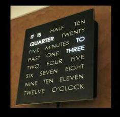 Coolest clock I've ever seen. Plus, Louis Tomlinson wants it. :)