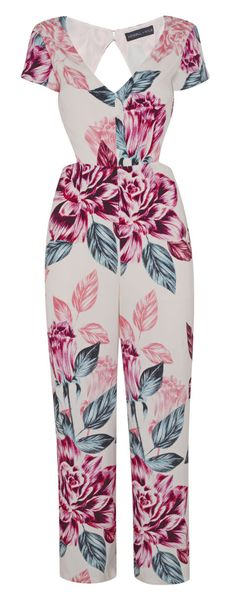 Floral Jumpsuit, $105   - MarieClaire.com