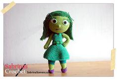 Amigurumis Personajes De Disney : Personaje amigurumi riley de disney del revés inside out cm