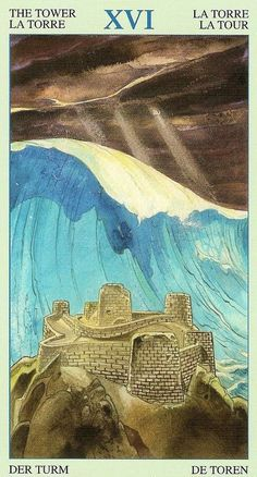 The Tower - Tarot of Atlantis -If you love Tarot, visit me at www.WhiteRabbitTarot.com?utm_content=bufferb9885&utm_medium=social&utm_source=pinterest.com&utm_campaign=buffer