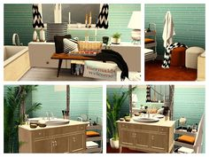 Orange Pearl Apartment by Simberry / Bathroom / Sims 3 / Download Sims 3 Games, Free Sims, Different Styles, Apartments, Pearls, Orange, Bathroom, Outdoor Decor, House
