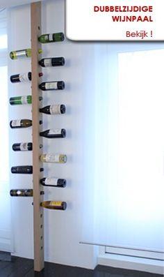 Dubbelzijdige wijnpaal, uw maatwerk wijnrek