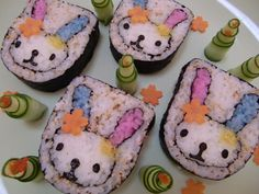 Arte Do Sushi, Sushi Art, Sushi For Kids, My Sushi, Cute Bento Boxes, Bento Box Lunch, Cute Food, I Love Food, Japanese Food Art