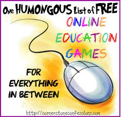 One Humongous List of Free Online Education Games for Everything In-Between - Cornerstone Confessions