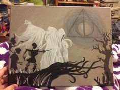 Harry Potter and the Deathly Hallows fan art. Acrylic on canvas.
