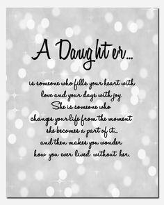Daughter Print Gift for Daughter Wedding Birthday by vtdesigns