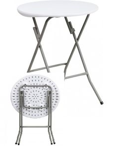 Round Granite White Plastic #Folding_Table $45