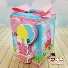 Bolo Da Peppa Pig, Show Da Luna, Color Plus, Milk Box, George Pig, Lunch Box, Diy, Cotton Candy, Ideas Para Fiestas
