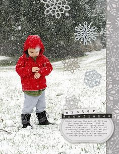 winter scrapbooking layout
