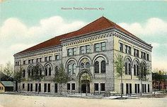 Cheyenne Wyoming WY 1908 Masonic Temple Collectible Antique Vintage Postcard