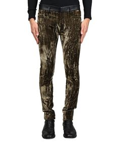 HAIDER ACKERMANN Velvet And Leather Skinny Trousers. #haiderackermann #cloth #trousers