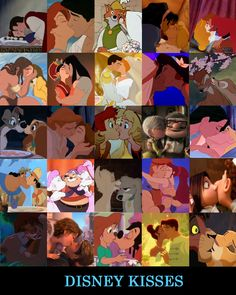 Disney Kisses by ~nuts4books9 on deviantART    Because I am an absolute sap when it comes to romance, art and DISNEY!!!