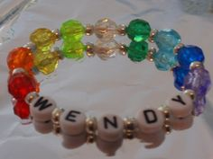 Girls  Personalized Rainbow Shimmer Stretchy Name by ThePinkCloset, $1.89 - favors for the girls?