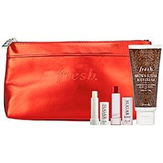 Fresh - Sugar Cheer Set  This was a great set with a beautiful red bag.  Love it! ♥️