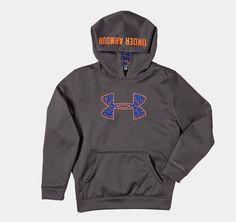 Boys' Armour® Fleece Storm Big Logo Hoodie | 1240249 | Under Armour US