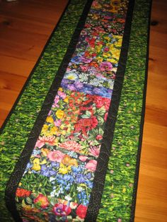 Quilted Table Runner Summer Garden Flowers and by TahoeQuilts, $60.00