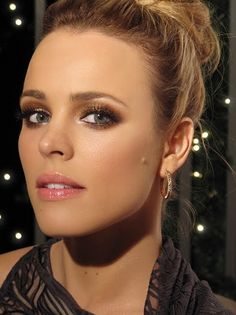 Rachel McAdams Bronzed Makeup Look  Brown Smokey Eye/Bronzed Face/Fresh Pink Lips