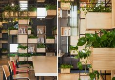 Cafè in Beijing | Project by Penda: recycled steel bars to serve as modular dividers