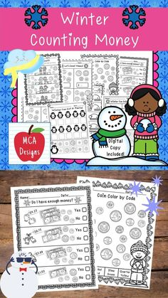 This product features various no-prep worksheets to help your students practice identifying and counting money. This packet is designed to be used as mini-lessons, supplements to larger lesson plans, extra practice, or as a math center. Each worksheet is accented with cute winter themed graphics. This product includes both a print and DIGITAL copy. The digital copy is great for DISTANCE LEARNING! #teacherspayteachers #tpt #winter 1st Grade Activities, Educational Activities, Winter Activities, Math Resources, Classroom Resources, Counting Money, 2nd Grade Classroom, Teacher Tools, Creative Teaching