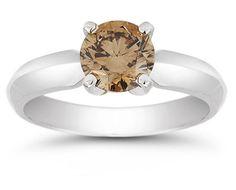 ApplesofGold.com - 1 Carat Mocha Diamond Solitaire Engagement Ring