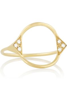 Maria Black Fine Jewelry|Spike Monocle 18-karat gold diamond ring|NET-A-PORTER.COM
