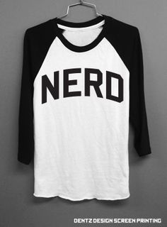 Nerd Baseball Tshirt by DentzDesign on Etsy, $28.00.... WITH NERDY GLASSES RED LIPS BASEBALL CAP