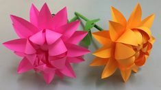 How to Make Beautiful Flower with Paper - Making Paper Flowers Step by Step - DIY Paper Flowers How To Make Paper Flowers, Paper Flowers Craft, Paper Crafts Origami, Origami Flowers, Flower Crafts, Diy Paper, Flower Making Crafts, Crepe Paper Roses, Paper Flower Tutorial