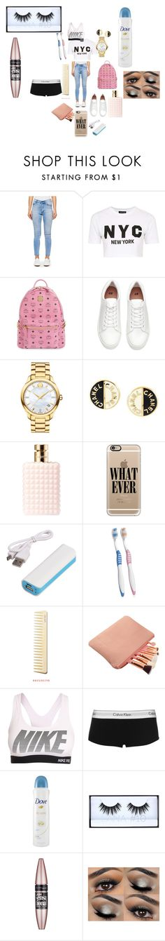"""""""outing with family"""" by kennedysimmons34 on Polyvore featuring Cheap Monday, Topshop, MCM, Movado, Chanel, Valentino, Casetify, Preferred Nation, NIKE and Calvin Klein"""